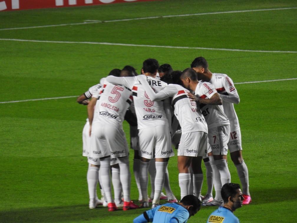São Paulo foi eliminado pelo Mirassol no Morumbi — Foto: Marcelo Hazan