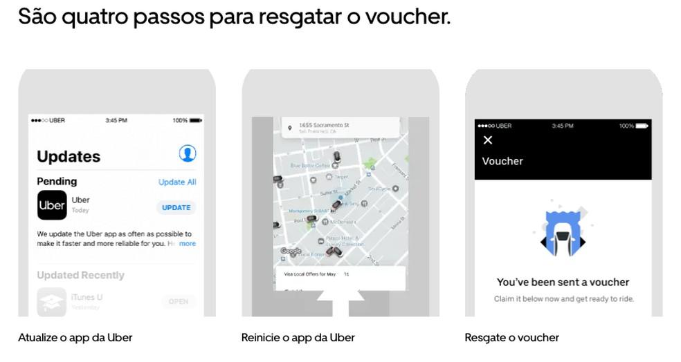Nova forma de pagamento do Uber usa vouchers e é focado nas empresas — Foto: Divulgação/Uber