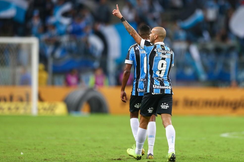 Tardelli marcou o segundo gol dele contra o Juventude — Foto: Lucas Uebel / Grêmio, DVG