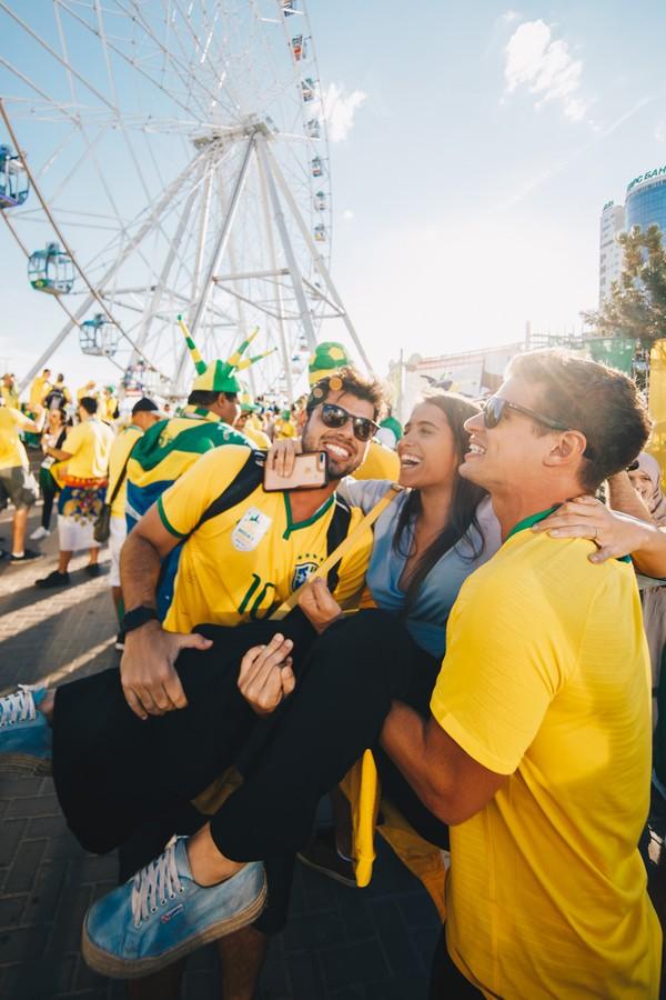 Derek Abboud, Natasha Ribeiro e Dilson Neto (Foto: Raul Aragão)