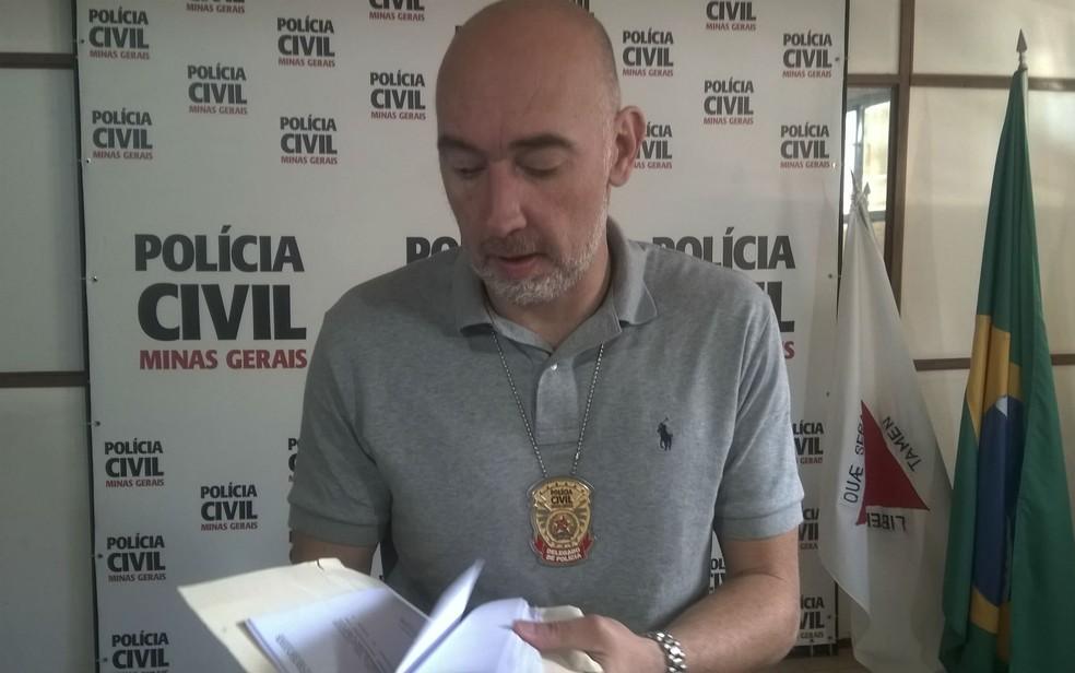 Delegado de Homicídios, Rodrigo Rolli, afirmou que as apurações estão avançadas. (Foto: Roberta Oliveira/G1)