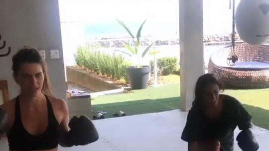 Yanna Lavigne e Mariana Goldfarb treinam juntas; veja vídeo!
