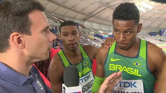 Atletas do Brasil comentam participação na final do 4x100m
