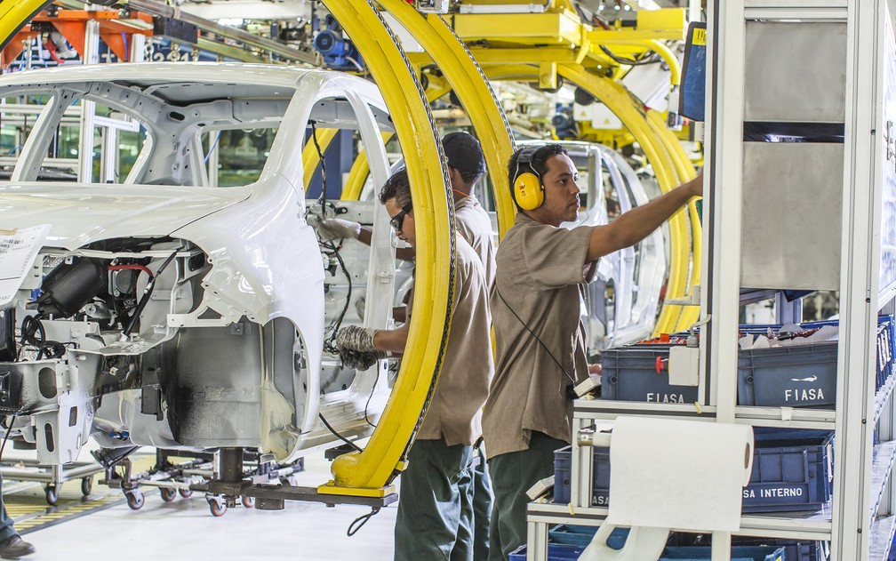 Fábrica da Fiat Chrysler, em Betim, MG (Foto: Divulgação)