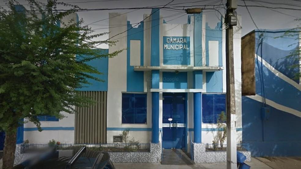 Câmara Municipal de Sapé, na Paraíba — Foto: Street View/Reprodução