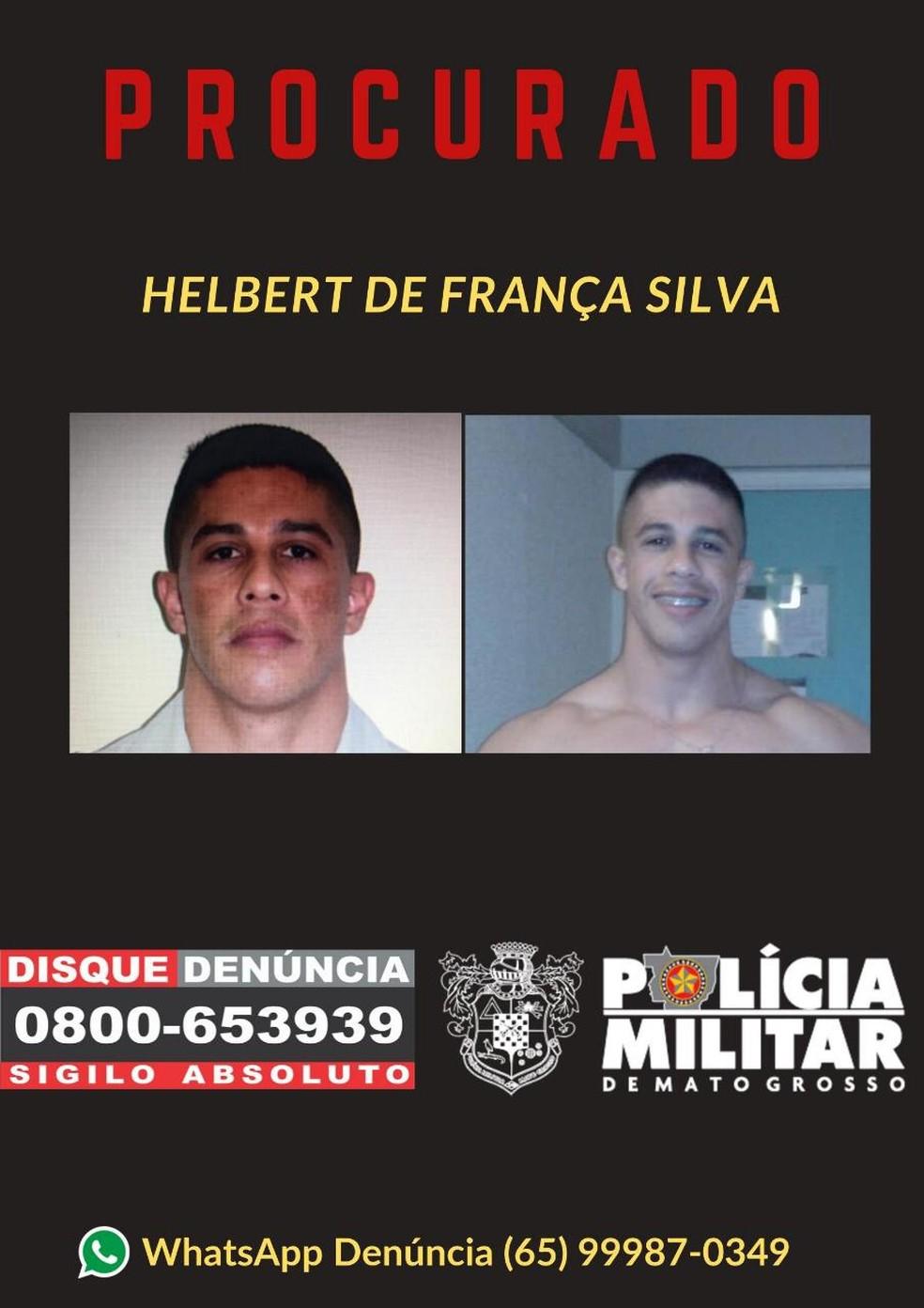 Helbert de França Silva foi condenado a mais de 100 anos de prisão. — Foto: PM-MT