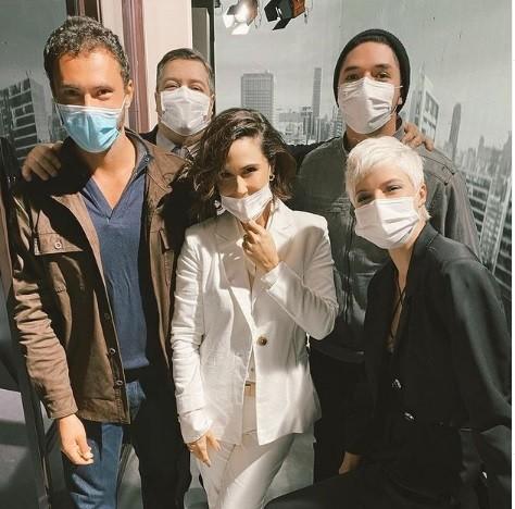 Adriano Tolozza, Guilhermina Guinle e mais integrantes do elenco de 'Verdades secretas' 2 (Foto: Reprodução)
