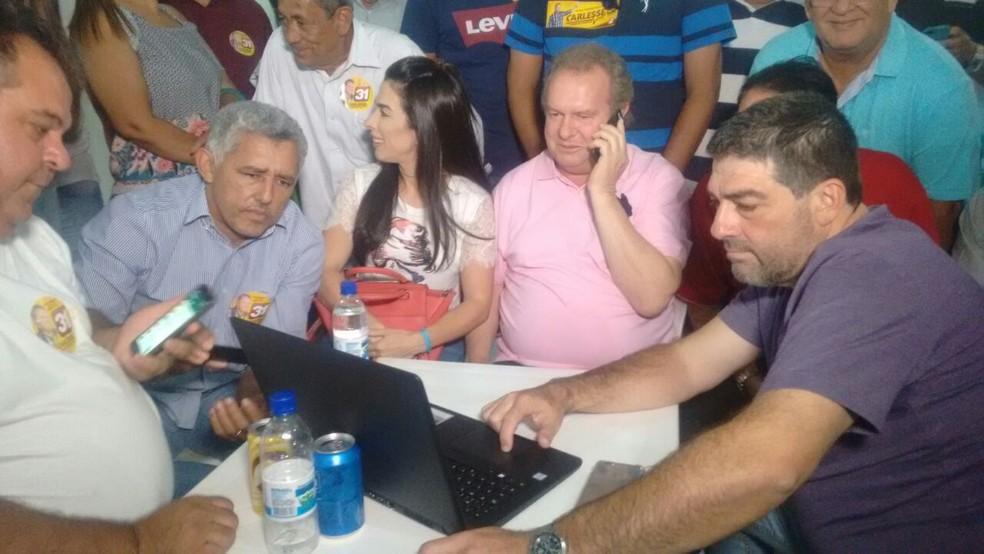 Carlesse acompanhou o resultado de Gurupi (Foto: Débora Ciany/TV Anhanguera)