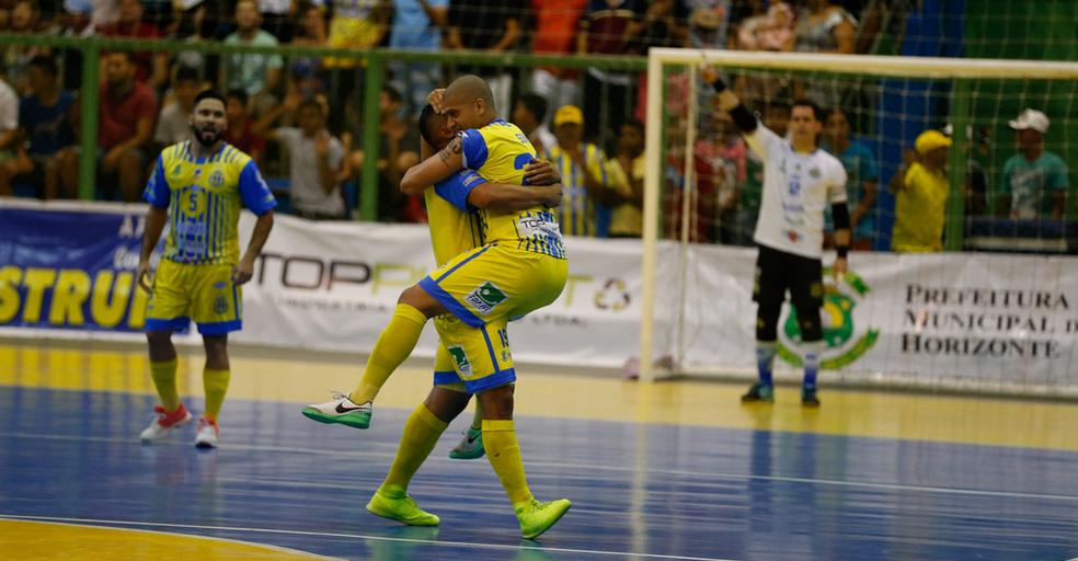 Horizonte venceu o Tubarão-PA, no Ginásio Domingão, e se sagrou campeão da Copa do Brasil de futsal (Foto: JL Rosa/Agência Diário)