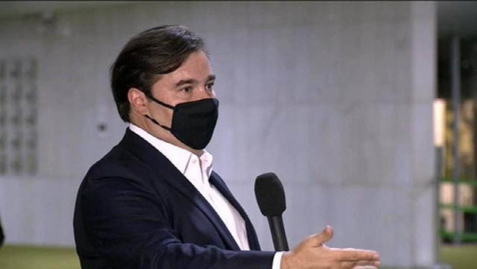 O presidente da Câmara, Rodrigo Maia — Foto: Reprodução/GloboNews