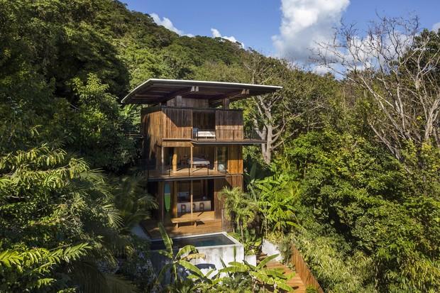 Casa em meio à floresta é refúgio sustentável na Costa Rica  (Foto: FOTOS DIVULGAÇÃO )