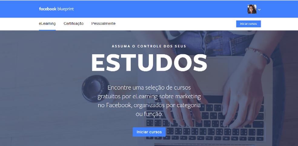 Blueprint é uma plataforma do Facebook que oferece cursos gratuitos (Foto: Foto: Reprodução/Lívia Dâmaso)