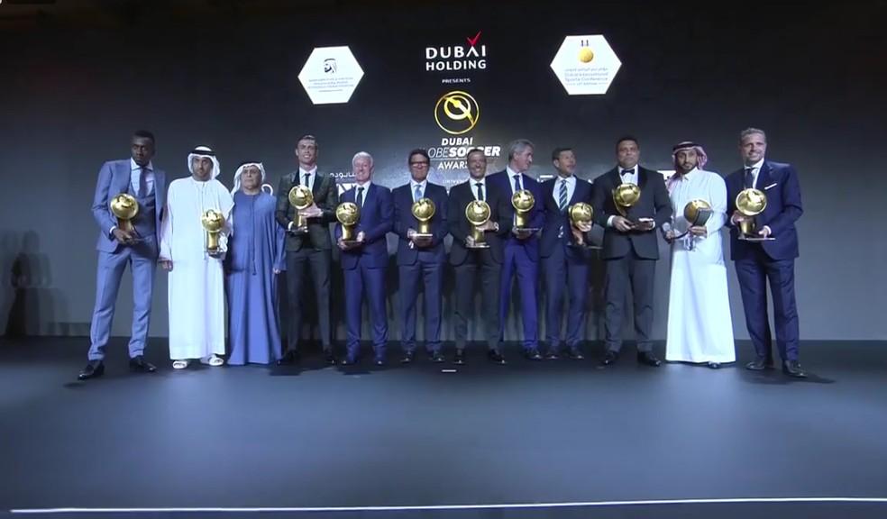Os vencedores do Globe Soccer Awards 2018 — Foto: Divulgação