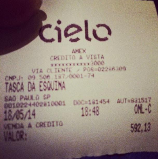 Fafá de Belém mostra quanto pagou em restaurante (Foto: Reprodução_Instagram)
