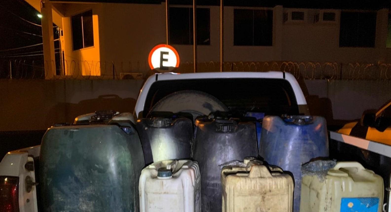Quarteto é preso em flagrante ao tentar furtar combustível de trem da Vale, no Pará