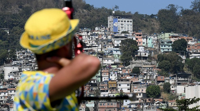 tiro com arco Morro da Mineira Sambódromo (Foto:  Photo by Matthias Hangst/Getty Images)