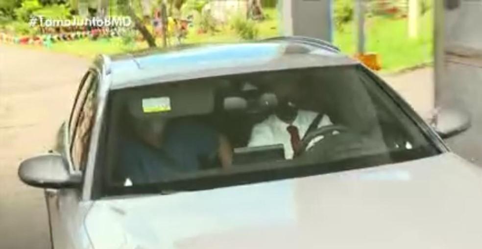 Geddel Vieira Lima deixa presídio em Salvador para cumprir prisão domiciliar — Foto: Reprodução/TV Bahia