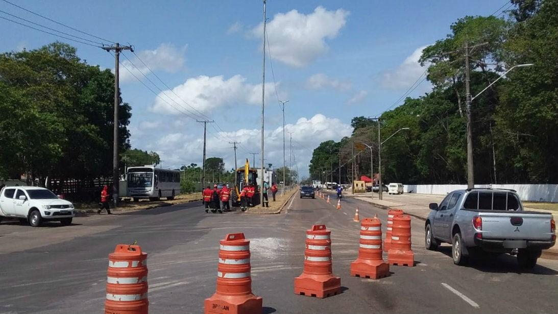 Trecho da Rodovia JK, em Macapá, ficará 6 dias parcialmente interditado para manutenção - Notícias - Plantão Diário