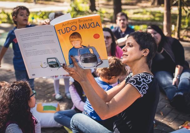 Denise Guilherme em roda de conversa (Foto: Valéria Gonçalvez)