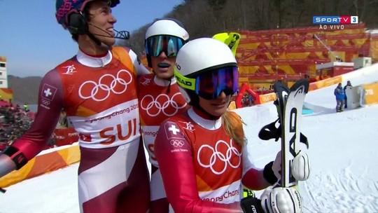 Noruega bate recorde, e Suíça leva primeiro ouro do esqui por equipes