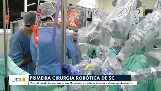 Blumenau realiza primeira cirurgia robótica em Santa Catarina