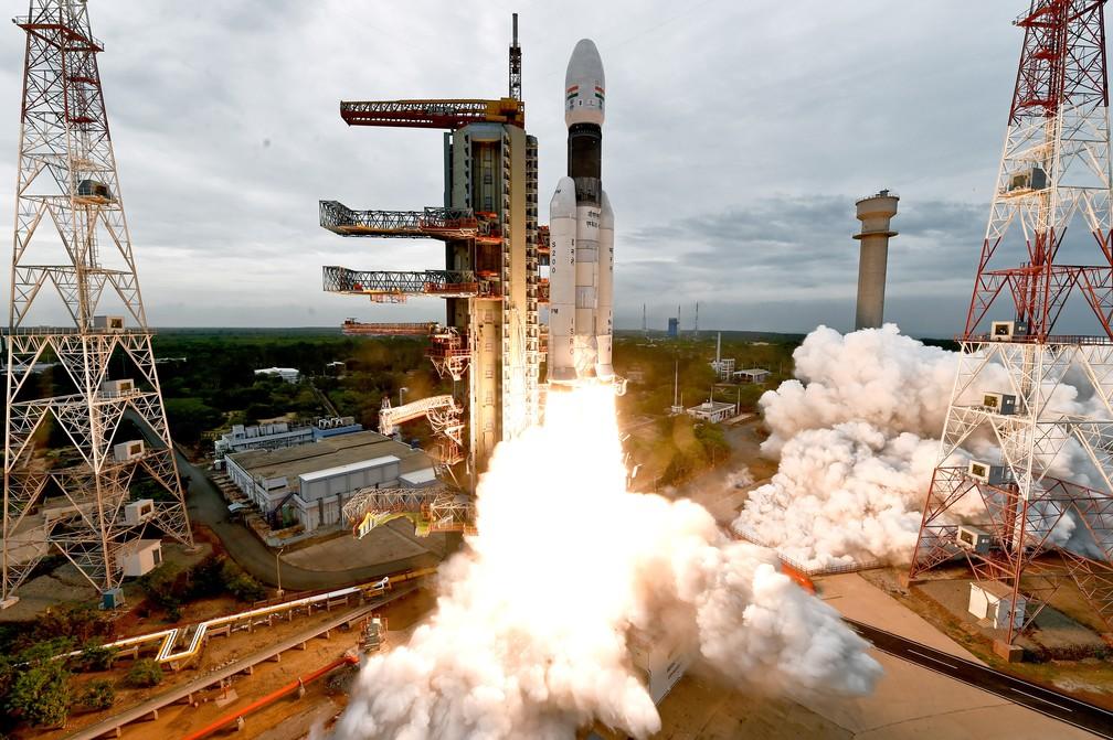 Índia envia missão até a Lua nesta segunda-feira, 22 de julho — Foto: Indian Space Research Organisation/Reuters