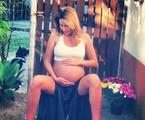 Debby na reta final da gravidez | Arquivo pessoal
