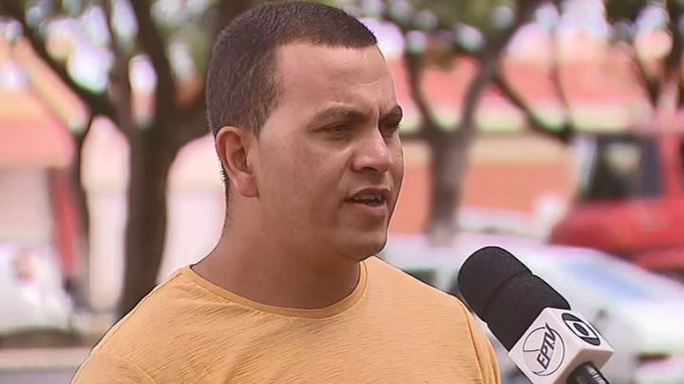 O operador de logística de Rio Claro Huedson Pereira da Silva caiu no golpe em São Carlos — Foto: Reprodução/EPTV
