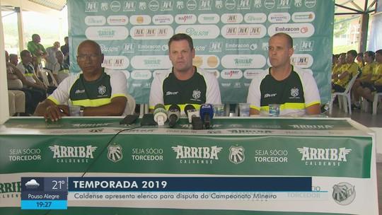 Caldense apresenta parte do elenco que vai disputar o Mineiro em 2019