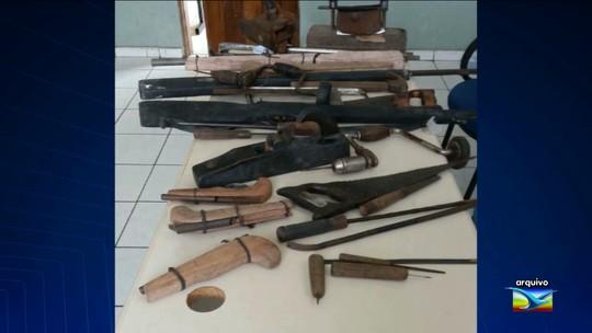 Armas artesanais são apreendidas em Caxias