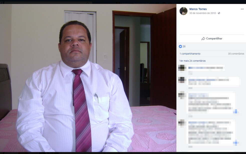 Marco Torres era delegado de Polícia Civil em Barra da Estiva (Foto: Reprodução/ Facebook)