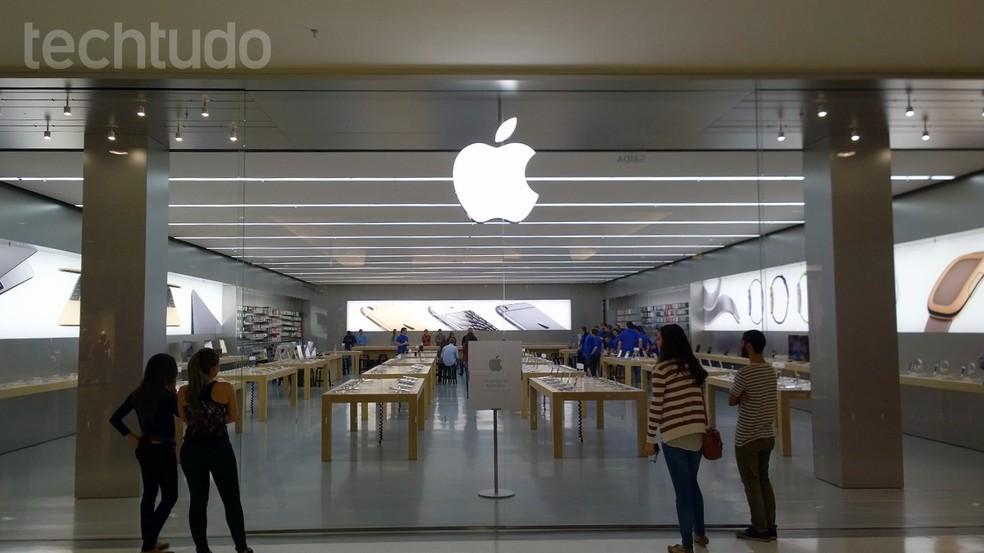 Trabalhar em uma Apple Store pode ser bastante concorrido (Foto  Fabrício  Vitorino TechTudo 529664f8fa