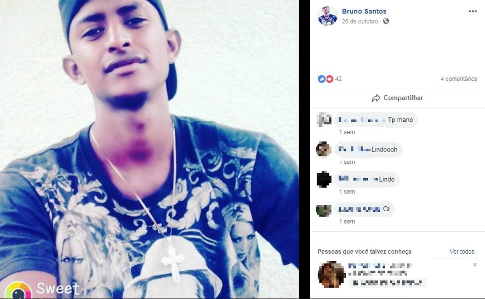 Bruno Gama foi morto a pauladas em Itanhém, no extremo sul da Bahia — Foto: Reprodução/Redes Sociais