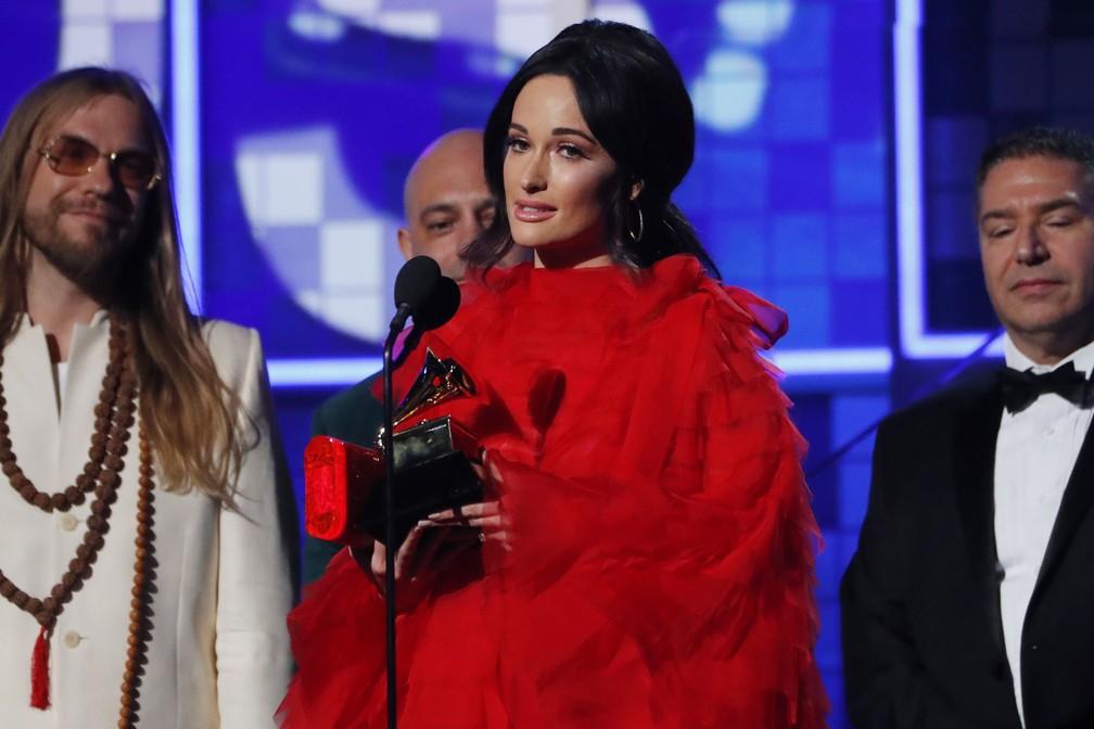 Kacey Musgraves leva Grammy de Álbum do Ano com 'Golden Hour' — Foto: Mike Blake - Reuters