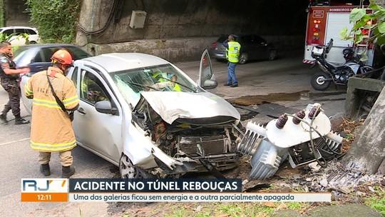 Acidente deixa trânsito lento no Túnel Rebouças