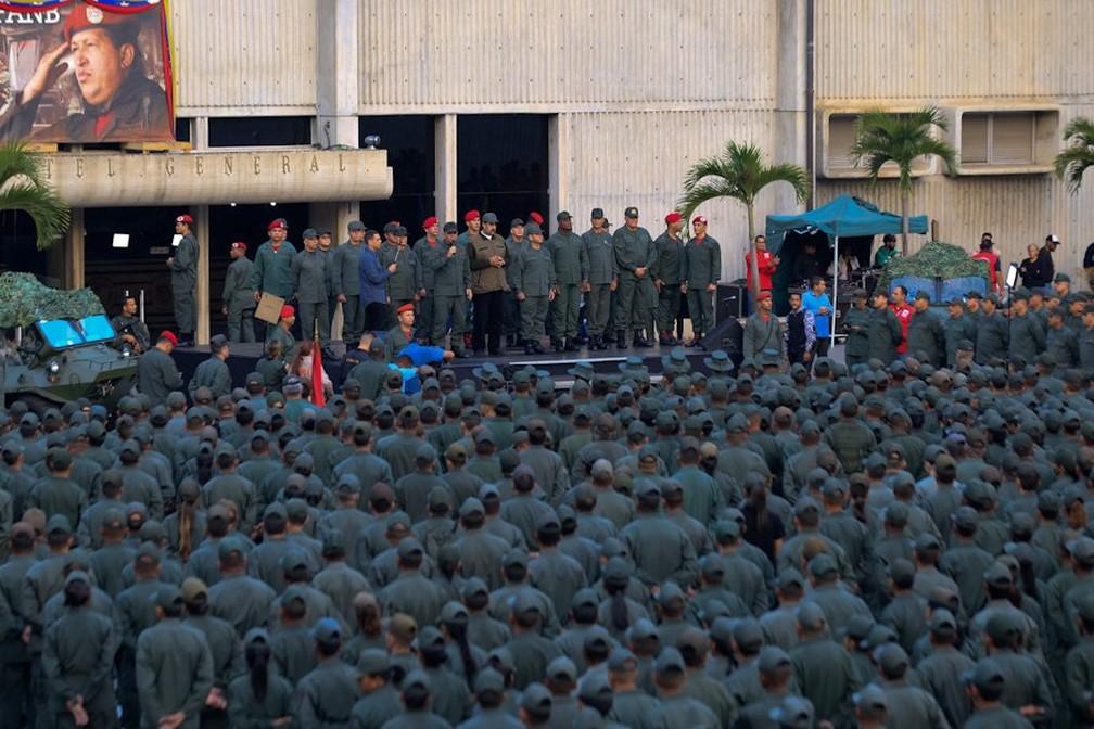 Imagens de militares venezuelanos divulgada pelo Ministério da Defesa do país — Foto: Divulgação / Ministério da Defesa da Venezuela