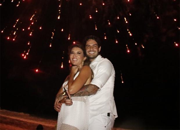 Rebeca Abravanel e o namorado, o jogador de futebol Alexandre Pato (Foto: Frad Pontes/Divulgação)