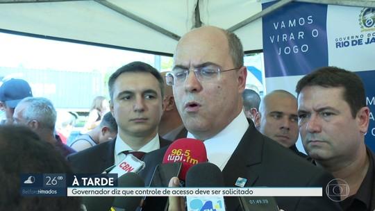 Governador Witzel anuncia controle no acesso às comunidades para diminuir o roubo de carga