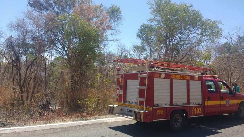 Chamas foram controladas pelos bombeiros — Foto: Corpo de Bombeiros/Divulgação