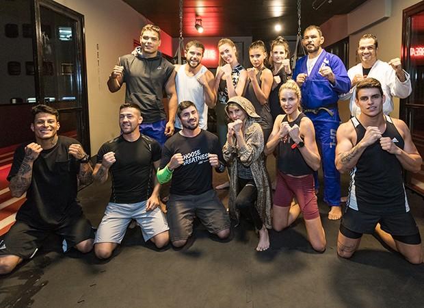 Convidados da QUEM participam de aula de MMA (Foto: Eduardo Saraiva/ Quem Acontece)