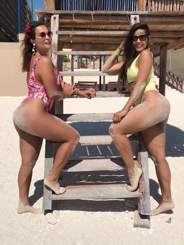 Geisy Arruda e Nuelle Alves (Foto: Cauê Garcia / CG1 Comunicação / Divulgação)
