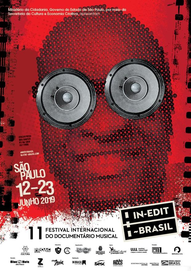 Evaldo Rosa em cartaz do Festival In-Edit 2019 (Foto: Divulgação)