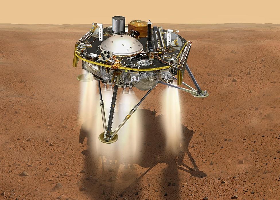 Sonda Insight pousa em Marte (Foto: Divulgação/Nasa)