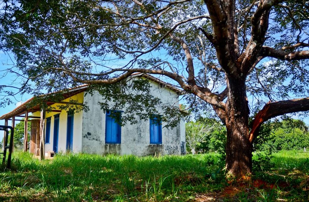 """Museu """"Casa de Rondon"""" antes da restauração em Vilhena, RO — Foto: Herbert Weil/Prefeitura de Vilhena"""