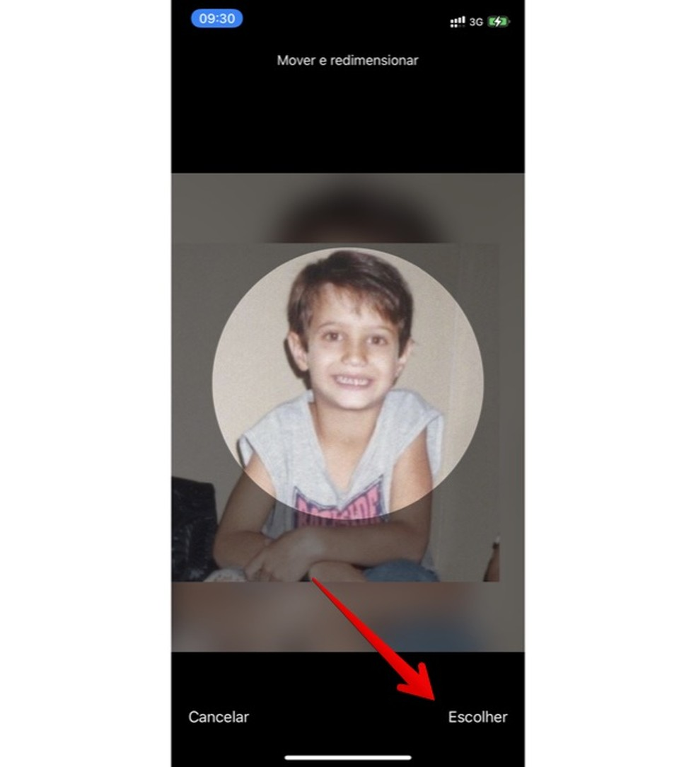 Alterando foto de perfil do WhatsApp — Foto: Reprodução/Helito Beggiora