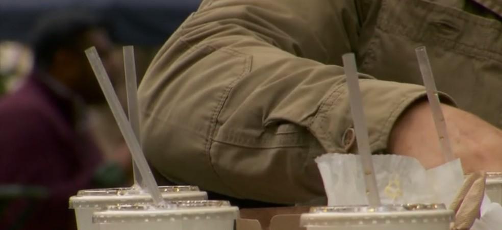 Projeto de lei que proíbe canudos de plástico está tramitando na Assembleia Legislativa do RN (Foto: Reprodução/ TV Globo)