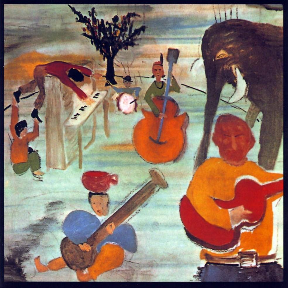 Bob Dylan adora pintar e fez desenho especial para ilustrar capa de disco 'Music From Big Pink', trabalho de estreia da The Band — Foto: Reprodução
