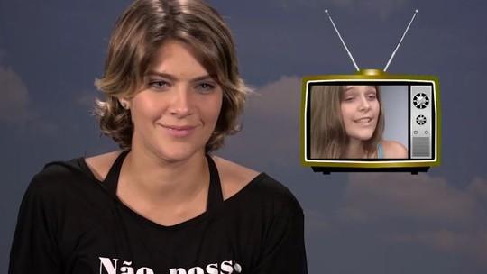 Isabella Santoni revê primeiro teste na Globo e aconselha: 'Não esquece de respirar'