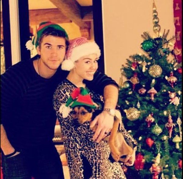 Miley Cyrus e Liam Hemsworth  (Foto: Instagram)