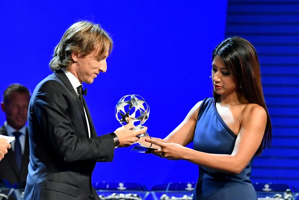Modric foi eleito o melhor jogador da Europa. Ele pode ser eleito o melhor do mundo? — Foto: Harold Cunningham - UEFA / Getty Images